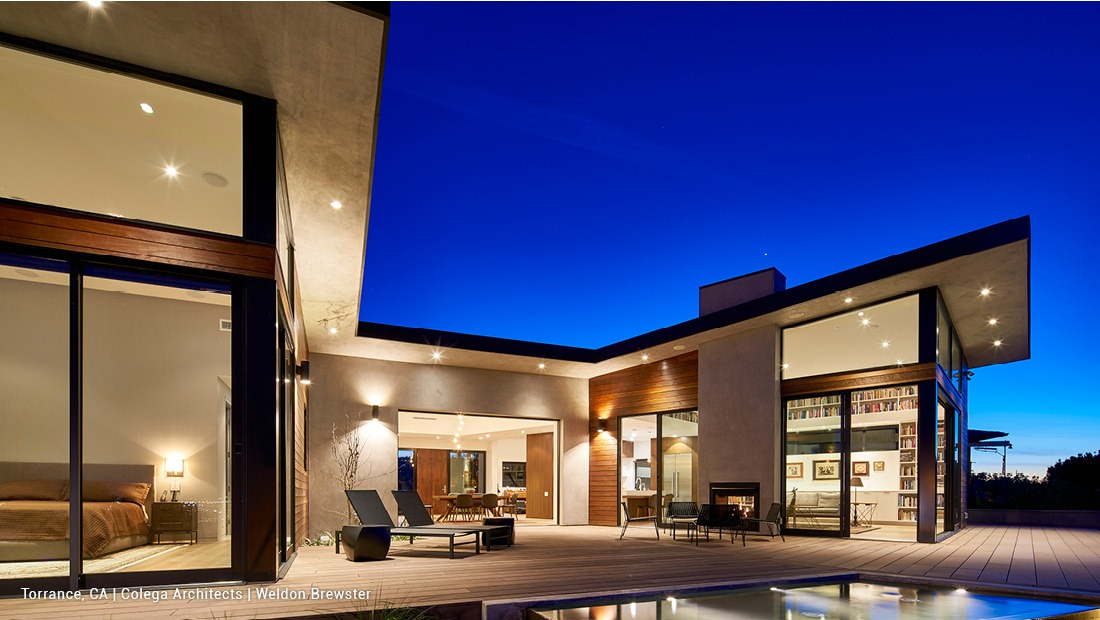 Contemporary luxury home showcasing Fleetwood products
