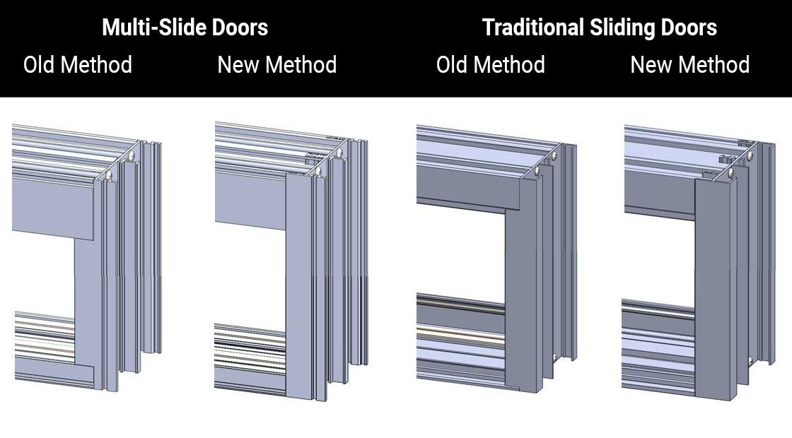 Sliding Door Frame Fabrication methods