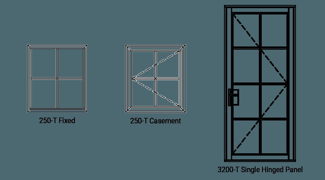Steel Look Stimulated Divided Lites (SDL)