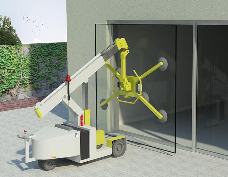 Series 4070-T glass installation with use of machinery