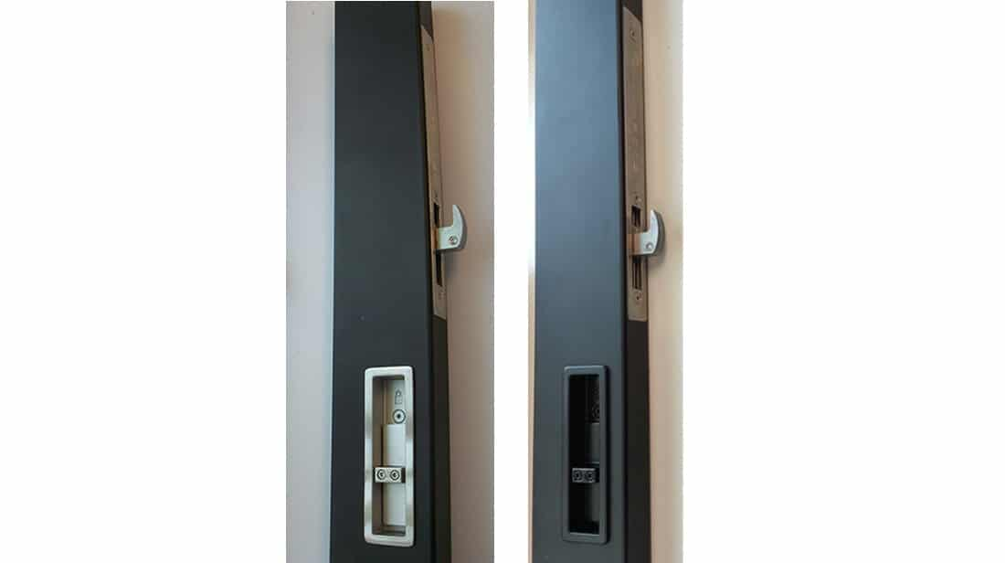 Archetype Narrow, Brushed Stainless Steel and Black Painted Stainless Steel